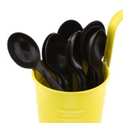 CiboWares Heavyweight and Disposable Black Soup Spoons, Package of 100