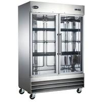 """Heavy Duty Commercial 47"""" Stainless Steel Glass Door Reach-In Freezer (2 Door) by zz"""