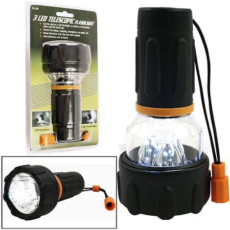Flashlight Combo Sheath - Happy Camper 3-LED Flashlight / Lantern Combo