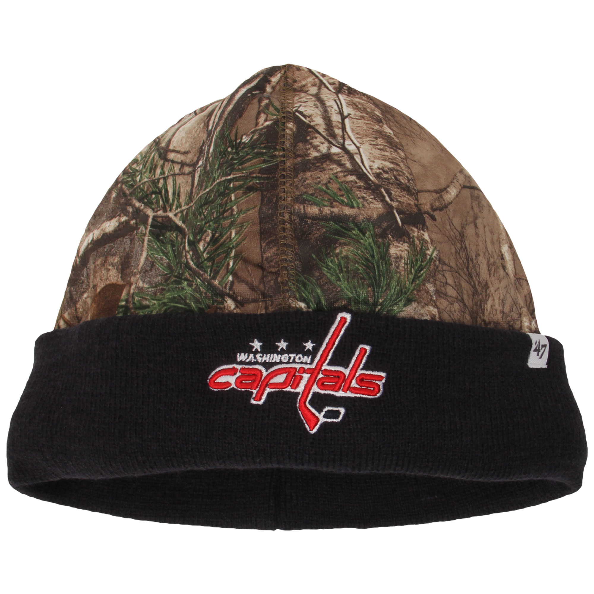 Washington Capitals '47 Real Tree Foxden Cuffed Knit Hat - Camo/Navy - OSFA
