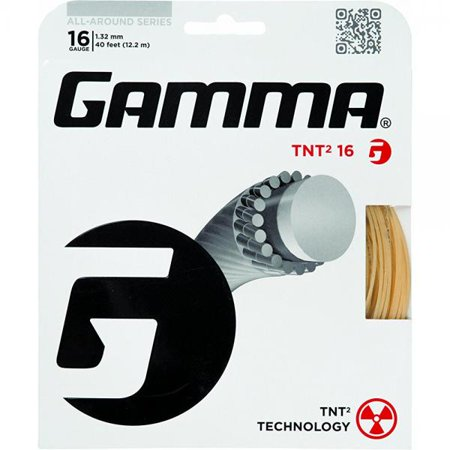 - Gamma TNT2 17G Tennis String, White