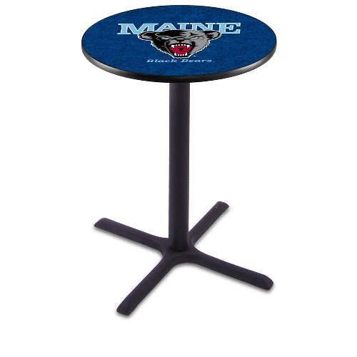 NCAA Pub Table by Holland Bar Stool, Black - University of Maine, 36'' - L211