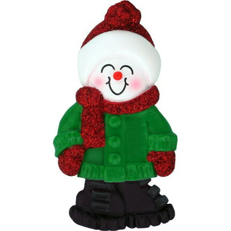 (Male Name Snowboy Connor Personalized Christmas Tree Ornament)