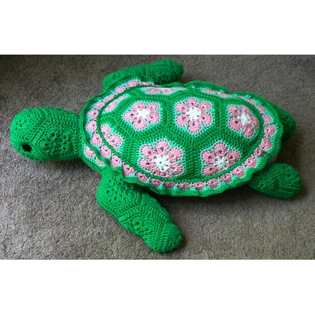 Framed Art for Your Wall Sea Turtle Craft Yarn Crochet Crocheted Sea Turtle 10x13 Frame](Yarn Crafts)