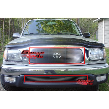 Fits 2001-2004 Toyota Tacoma Billet Grille Combo