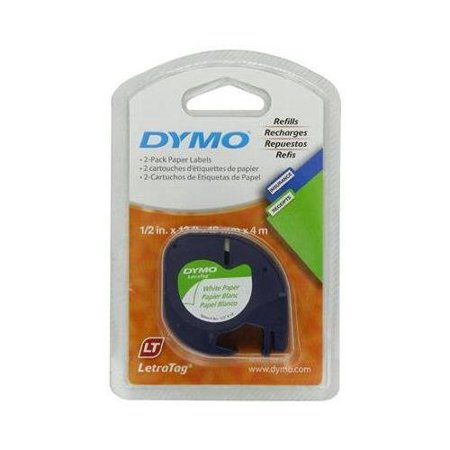 Free Label Maker - DYMO 10697 Self-Adhesive Paper Tape for LetraTag Label Makers, White (2 Pack of 2 Piece Each)