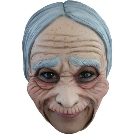 Old Lady Chinless Mask Adult Halloween Accessory
