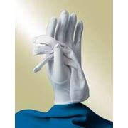 Gloves-Usher-Solid White Nylon Knit-Womens-One Size