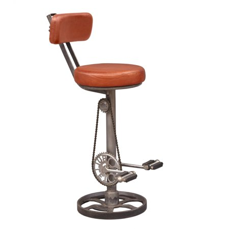 Peachy Right2Home Kent Adjustable Leather Bar Stool With Bicycle Foot Pedal Rests Evergreenethics Interior Chair Design Evergreenethicsorg