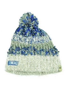 9bdc716560aff Product Image Tennessee State Womens Knit Beanie Crochet Pom Pom Sequin  Fuzzy Blue Gray Striped