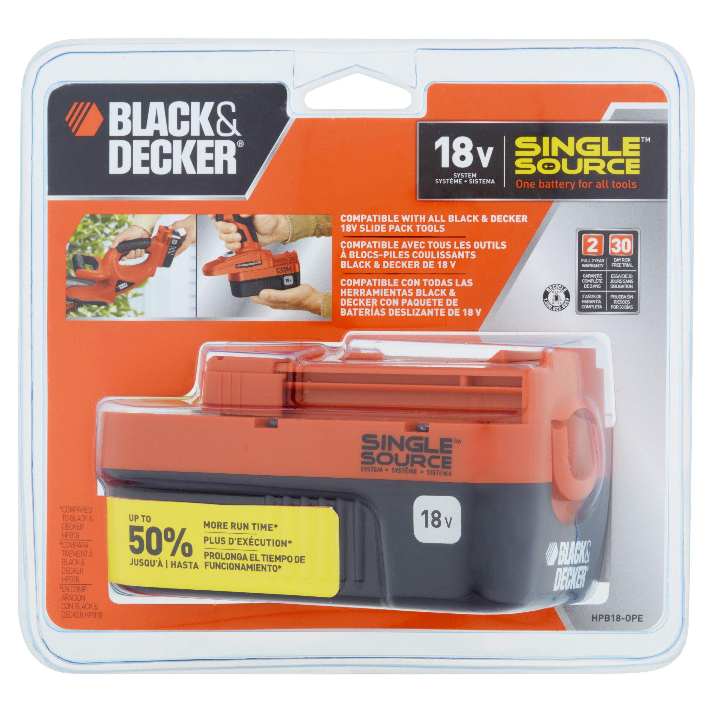 BLACK+DECKER HPB18-OPE 18V NiCad Slide Pack Battery