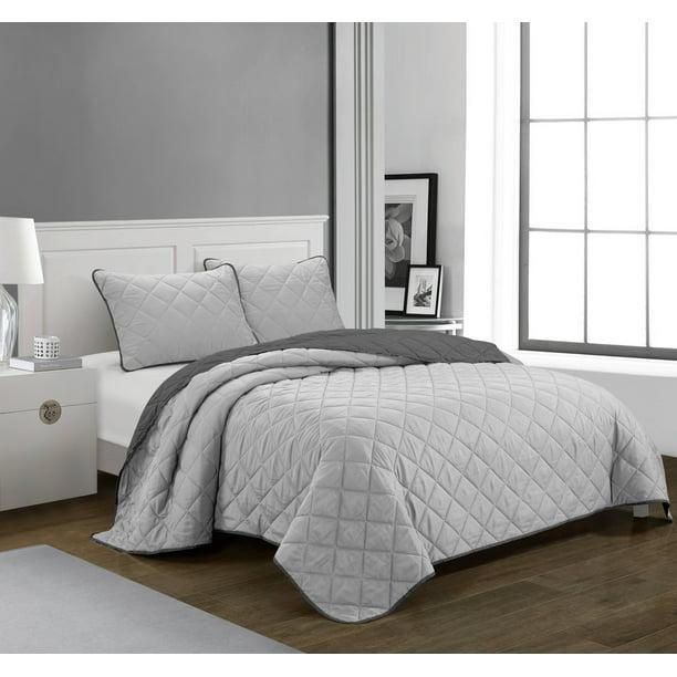 Casa Ultra Soft 3 Piece Full Queen Quilt Bedding Set Walmart Com Walmart Com