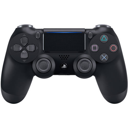 Sony DualShock 4 Controller (Playstation 4), Jet Black with Your Choice of PlayStation Store Gift Card