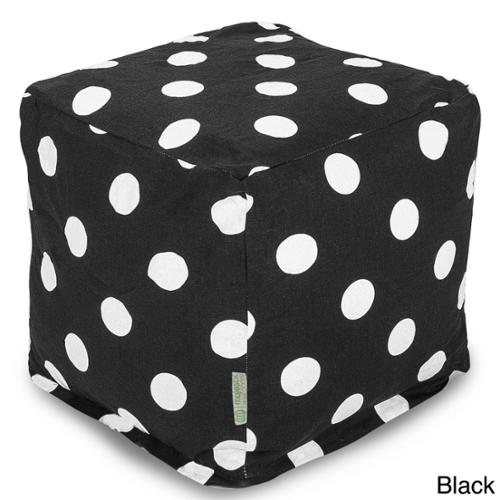 Large Polka Dot Small Cube Black Large Polka Dot Small Cube