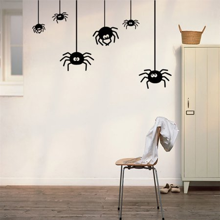 Halloween Spider Background Wall Sticker Window Home Decoration Decal - Halloween Backgrounds Windows 7