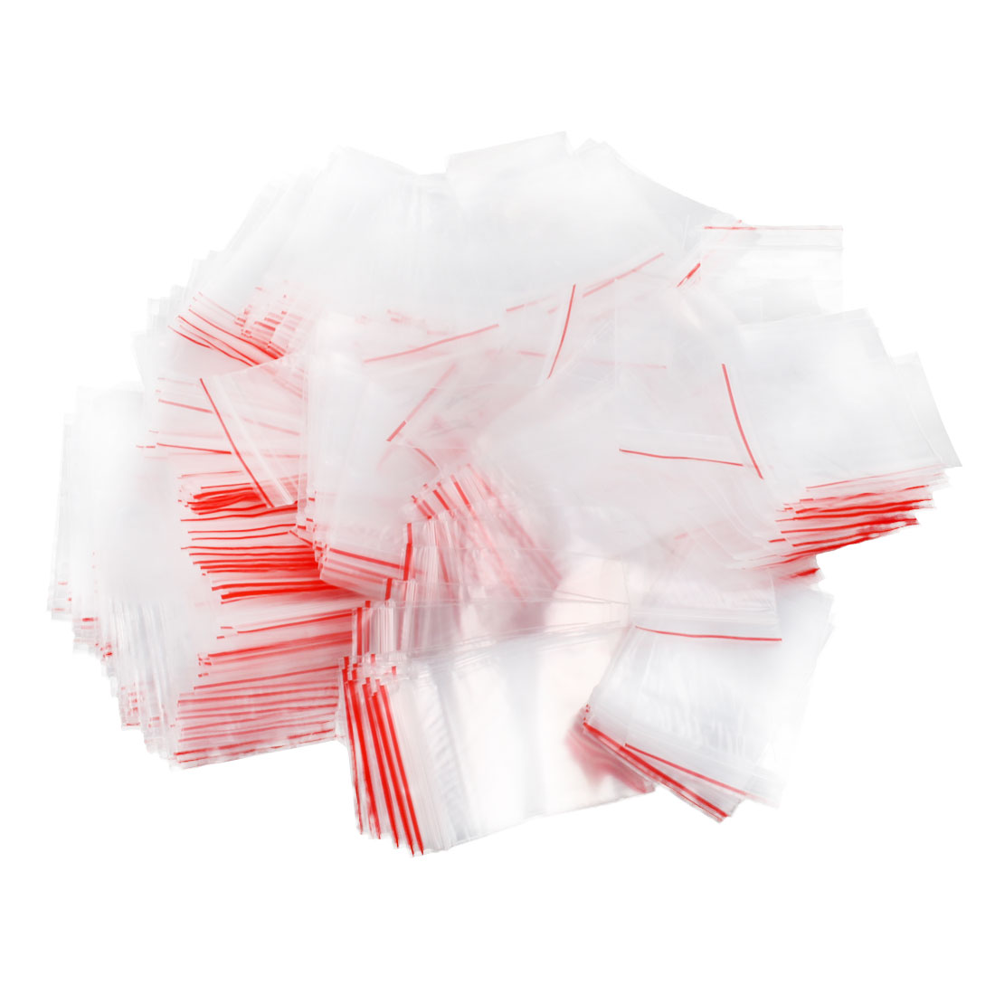 1Mil Poly Rectangle Reclosable Zip Lock Zipper Seal Bags Clear 6 x 4cm 500 Pcs