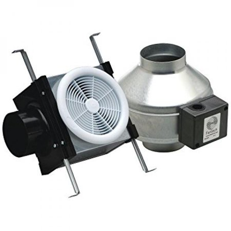 Fantech pb110 inline exhaust bath fan kit 110 cfm remote for Remote inline bathroom fans