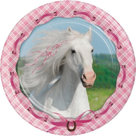 Party Creations Heart My Horse Dinner Plate, 9