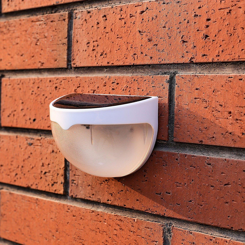 Ktaxon 6-LED Solar Powered Garden Security Light Outdoor Fence Wall Lamp Waterproof