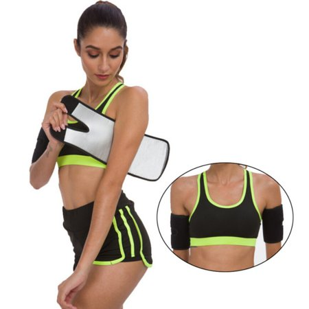 1 Pair Omen Men Armbands Body Shapers Sauna Sweat Band Arm Warmers Slimmer Sleeve Trimmers Wraps Lose Fat Arm Shaper Weight Loss Compression Body Wraps Sport Workout