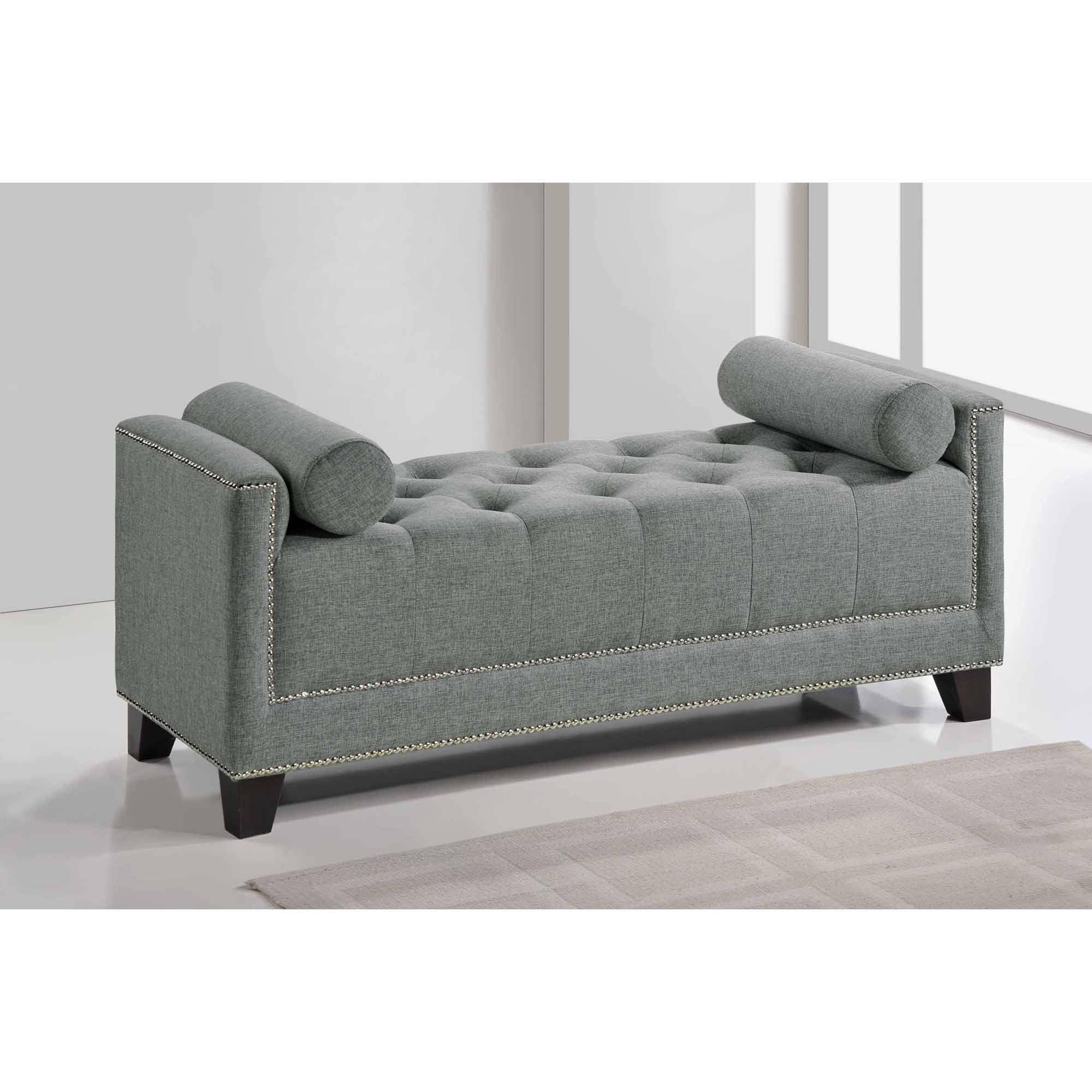Baxton Studio Hirst Grey Bedroom Bench Walmart