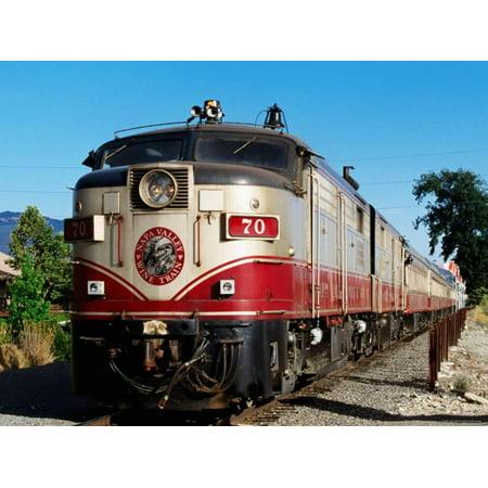 Napa Valley Wine Train (Napa Valley Wine Train, Napa Valley, California Print Wall Art By John Elk)