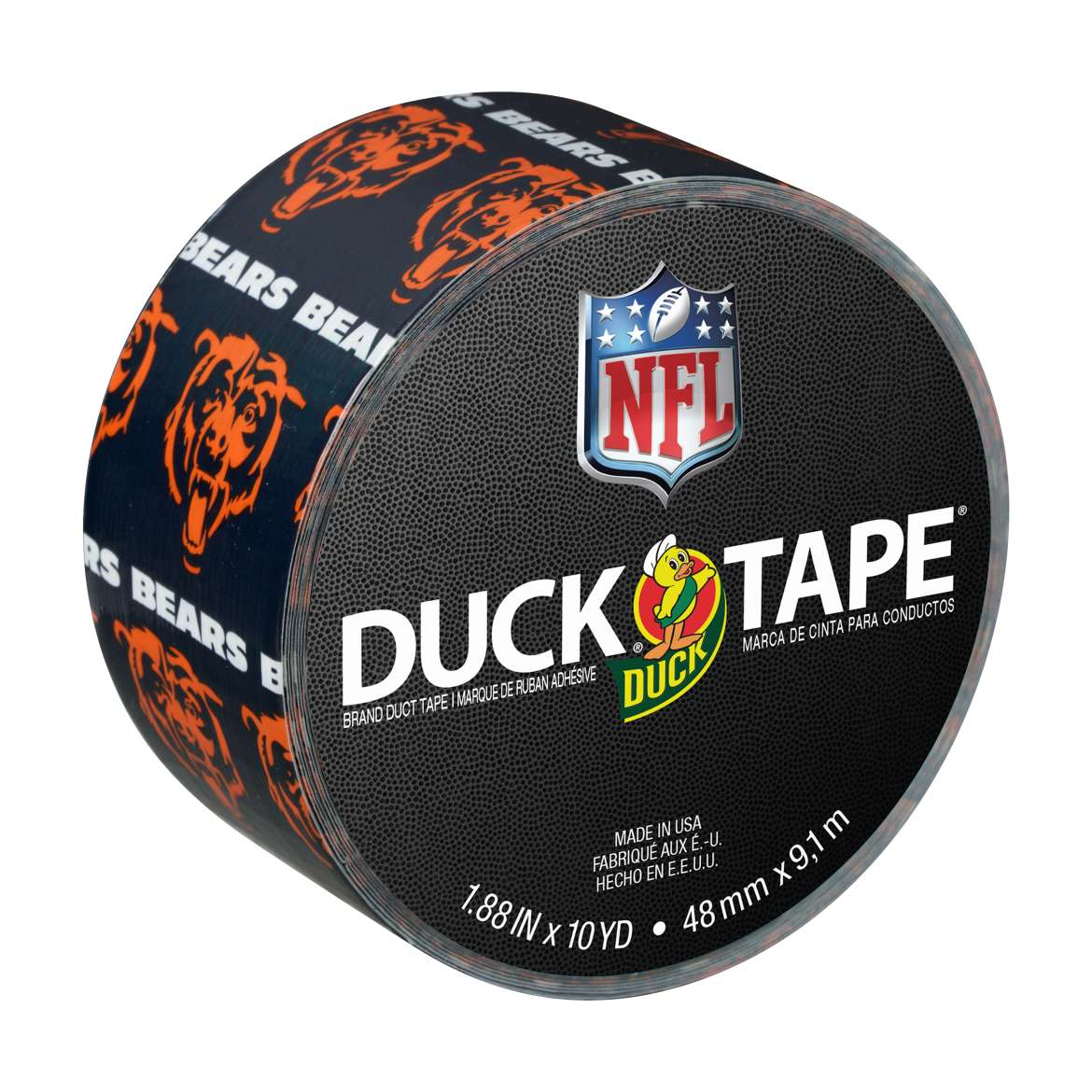 Duck Brand NFL Licensed Duct Tape, 1.88 in. x 10 yds., Chicago Bears
