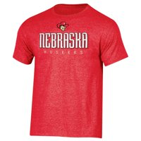 Men's Russell Athletic Scarlet Nebraska Cornhuskers Crew Basic Logo T-Shirt