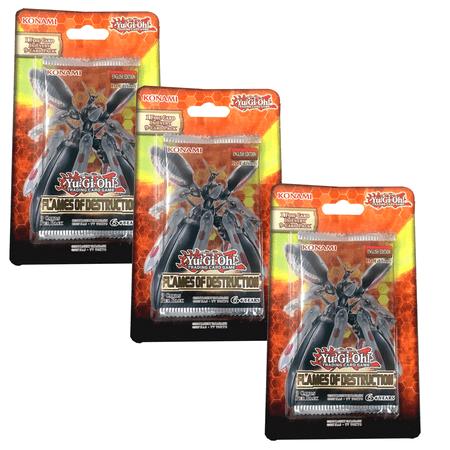 Yu-Gi-Oh! Flames of Destruction Blister 3-Pack Bundle Trading Cards