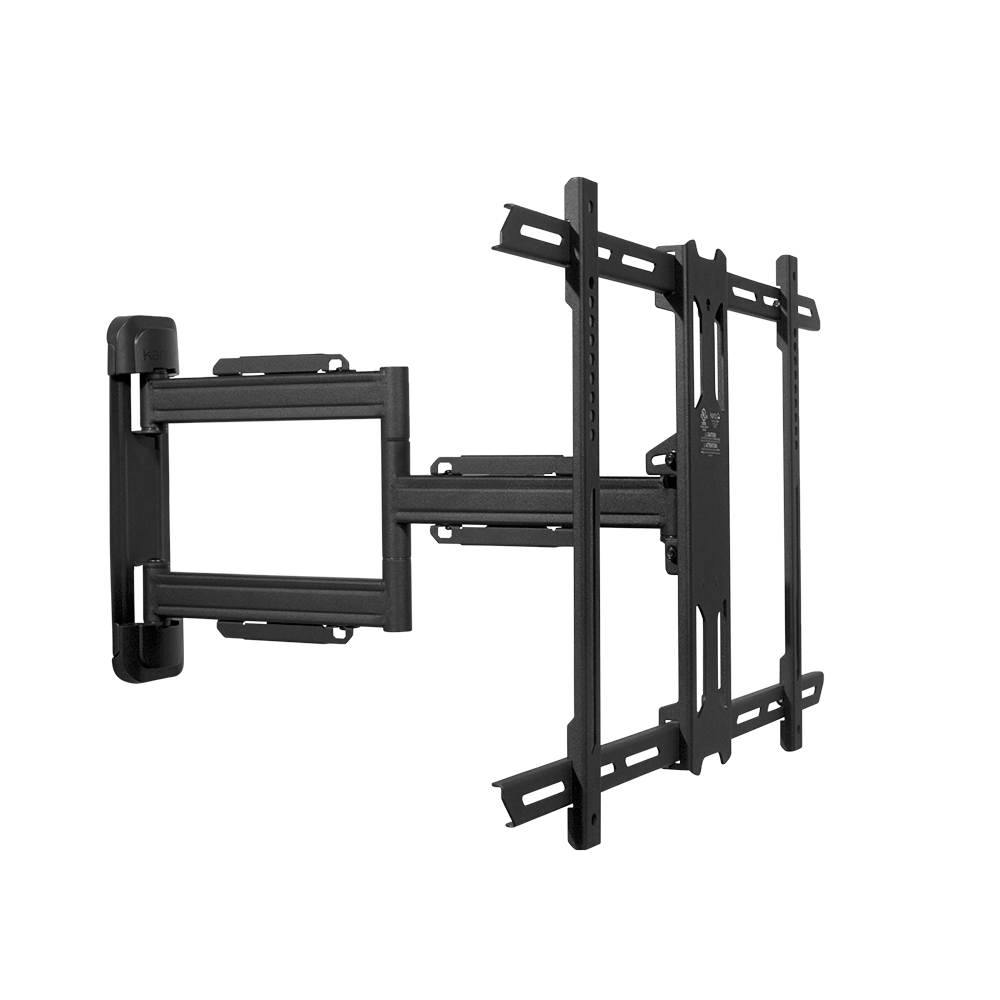 "Kanto Full-Motion Wall Mount for 37"" to 60"" Displays, Black"
