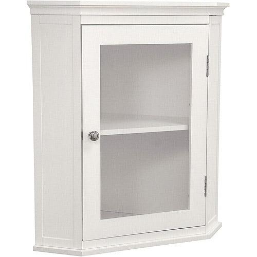 Classy Collection Corner Wall Cabinet, White - Walmart.com
