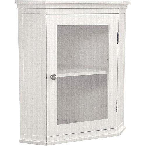 Classy Collection Corner Wall Cabinet, White