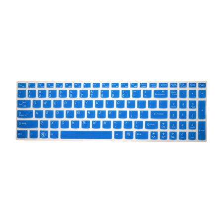 PcProfessional Blue Ultra Thin Silicone Gel Keyboard Cover for Lenovo Ideapad Flex 3 Edge 2 Ideapad 300 15.6
