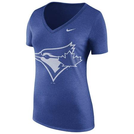 Toronto Blue Jays Nike Women's Core Tri-Blend V-Neck T-Shirt - - Nike Girls Core