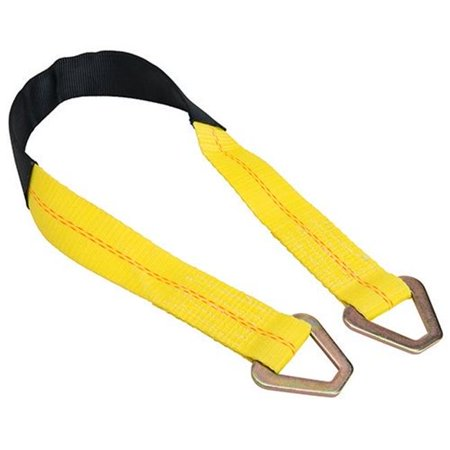 2 x 24 in. Axle Straps with Abrasive Sleeve & Delta Ring, Yellow - 2 Piece - image 1 de 1