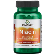 Swanson Niacin - Sustained Release 500 mg 90 Tablets