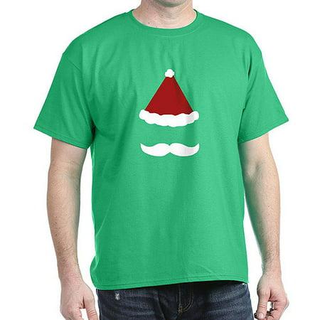 CafePress - Mustache Santa Dark T Shirt - 100% Cotton T-Shirt](Santa Mustache)