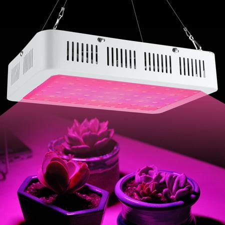 600W LED Plant Grow Lights Bulb Full Spectrum Hydroponic Grow Lamp Panel Light with UV IR for Indoor Green House Garden Succulents Bonsai Vegetable Flower Seeding