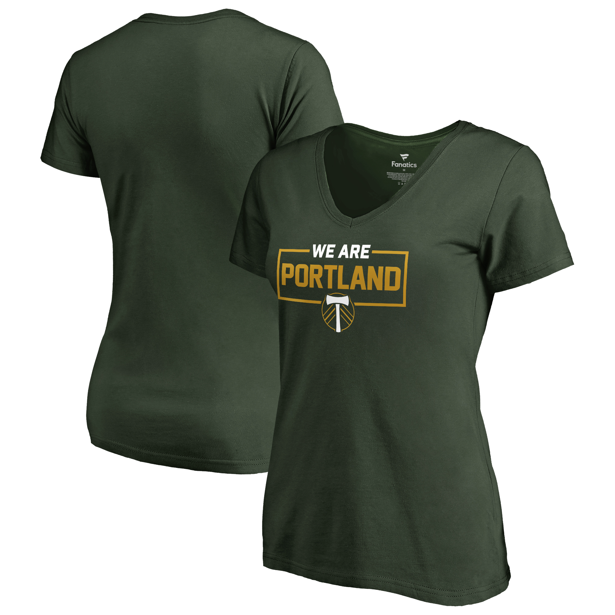 Portland Timbers Fanatics Branded Women's We Are V-Neck T-Shirt - Green