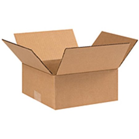 Box Partners 20164 20 in. x 16 in. x 4 in. Flat Corrugated Boxes- 25