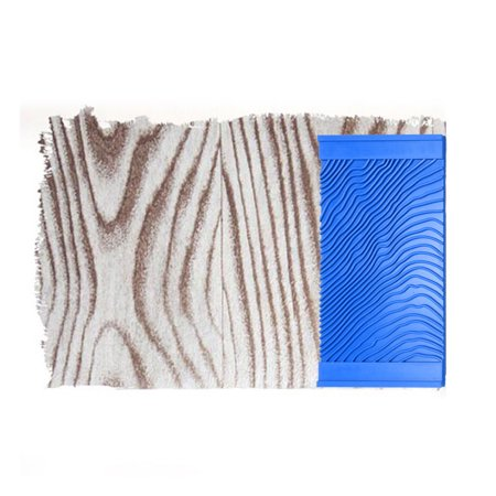 Wood Graining Rubber Grain Tool Pattern Wall Painting Decorating DIY Blue 4.8'' Wide - image 1 de 5