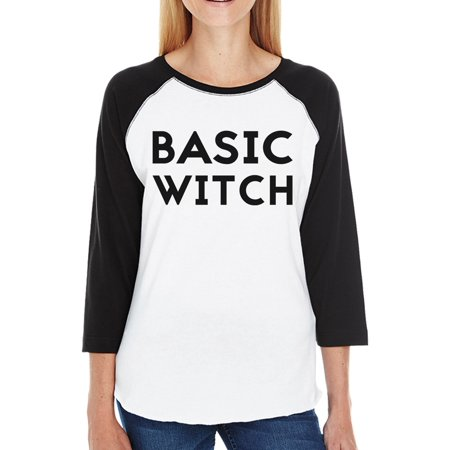 Basic Witch Funny Halloween Costume For Women Baseball Graphic