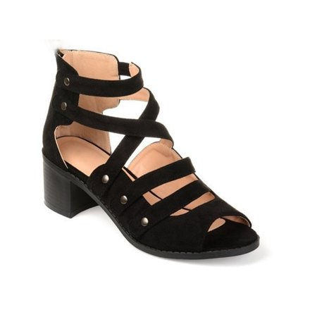 Women Summer Casual Gladiator Strappy Sandals Criss Cross Low Heels Rivet Shoes Double Criss Cross Sandal