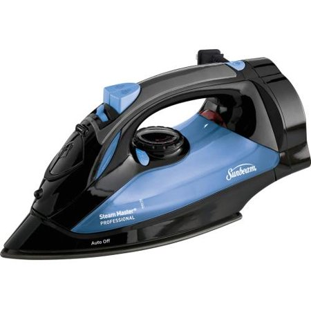 Sunbeam GCSBSM-423-000 Sunbeam Steam Master Iron with Retractable Cord, Black & Blue - 1200 W - Blue, Black