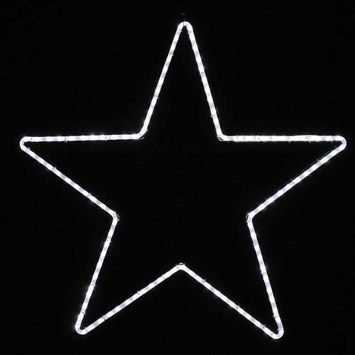 Holiday Lighting Specialists Large Five Point Star Led Rope Light