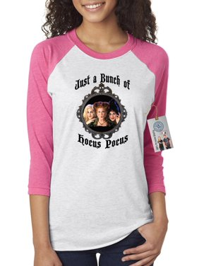 6a1cf5a0d ... Custom Apparel R Us. Product Image Hocus Pocus Movie Halloween Shirt  Womens 3 4 Raglan Sleeve T-Shirt Top