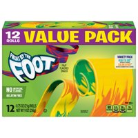 Fruit Snacks Fruit by the Foot Variety Snack Pack 12 Rolls