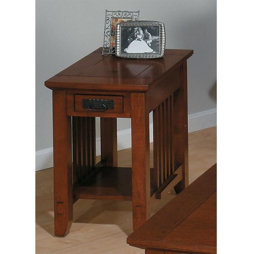 Jofran Kingston Chairside End Table with Drawer and Shelf