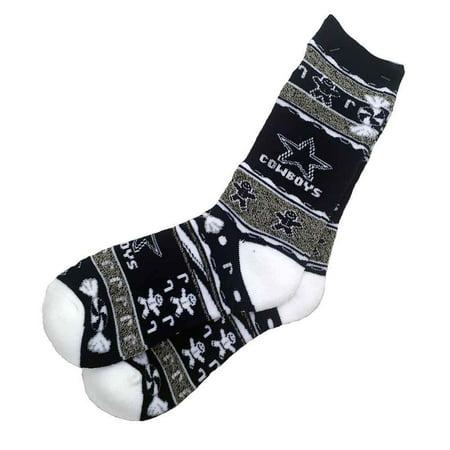 NFL Dallas Cowboys Ugly Xmas Socks [Men's Large]