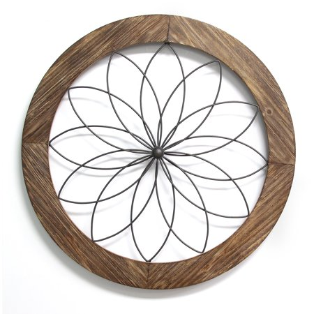 Stratton Home Décor Round Wood and Metal Medallion Wall Décor ...